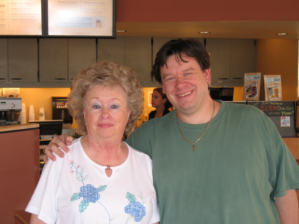 Myself with William Scarboro's mother, Pearle.